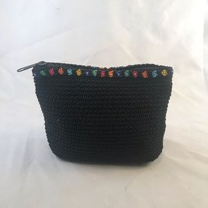 Vintage 90's Flower Bead Small Purse Clutch Bag